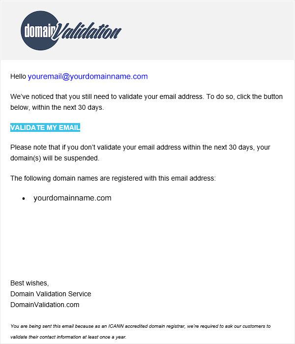 Domain Name Validation Example